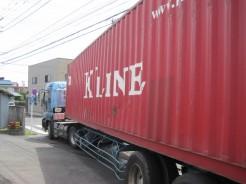 安心・安全 高品質の商品管理:コンテナ車で納入